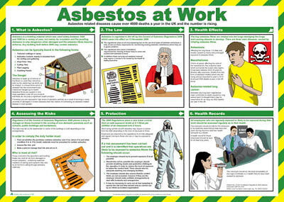 Click Medical Asbestos At Work Law Risks UK Health and Safety A2 Size Poster New