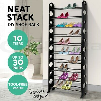 Shoe Rack Racks Organiser Shoes Storage Cabinet Steel Shelf Shelves Stand Holder