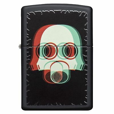 Officially Licensed Nuclear Mask 3D Black Matte Zippo Lighter