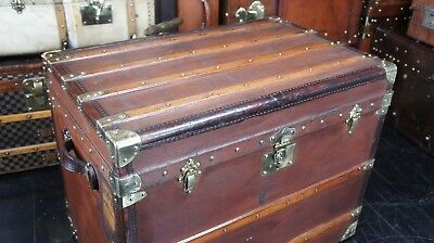 Stunning French Antique Steamer Trunk with Trays Circa 1890s