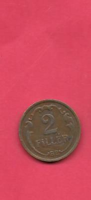 Hungary Km506 1938 Vf-Very Fine-Nice Old Antique Vintage 2 Filler Coin
