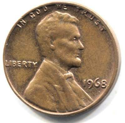 1968 P Lincoln Memorial Penny -  American One Cent Coin Philadelphia Mint
