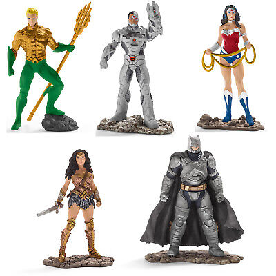 Schleich Justice League Aquaman Wonder Woman Cyborg Batman DC Comic Figuren NEU