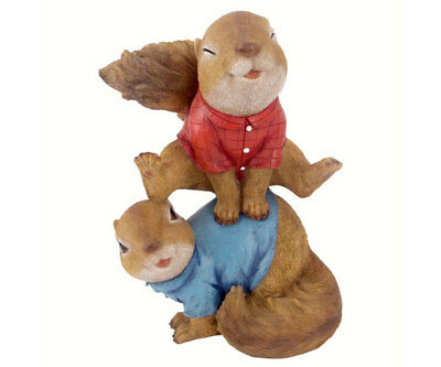 Home / Yard Leaping Squirrels Garden Statue