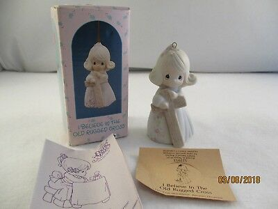 Enesco Precious Moments 522953 I Believe In The Old Rugged Cross Ornament