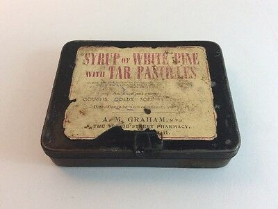 Vintage Syrup Of White Pine With Tar Pastilles Tin