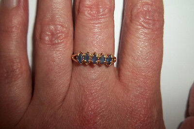 10k Yellow Gold Marquise Cut Lolite Ring size 7 Vintage