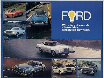 Auto advertising brochure/booklet, Ford, 1976, Pinto/Mustang/Thunderbird, m27348