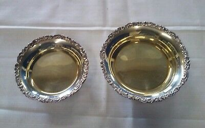 2 Silver Plated Serving Dishes Trinket Bowl