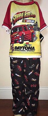 Boys Nascar Red And Black 2 Piece Pajamas Size 4/5