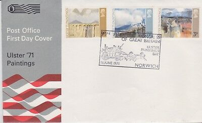 Gb Stamps First Day Cover 1971 Ulster Philatelic Congress Rares Collection