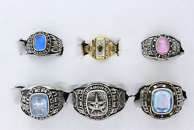 Wholesale Lot of 6 Seaborne Challenge Corps High School Class Rings