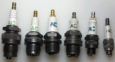 Qty 6 Vintage NOS mixed Lot of AC Spark Plugs