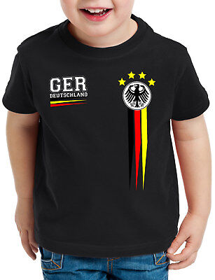 Deutschland T-Shirt Kinder Trikot Fussball Russland Fan-Artikel Oberteil Germany
