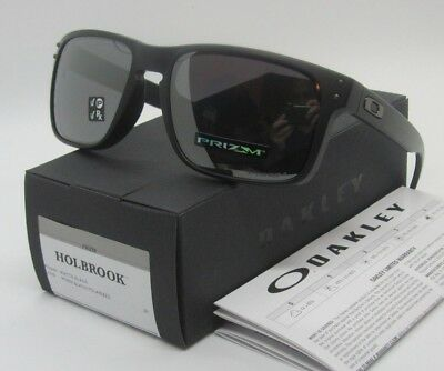 OAKLEY matte black PRIZM POLARIZED HOLBROOK OO9102-D655 sunglasses! NEW IN BOX!