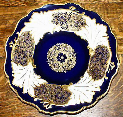 "Weimar Republic 12.5"" Cabinet Plate * Cobalt Blue and White * Jutta 529 Dresden"