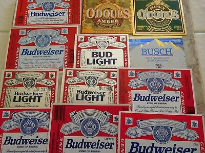 39 Different Anhauser Busch Beer Labels 1970's -2000's
