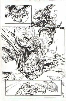 Darkstar & Winter Guard Orig. Art--Ursa Major Vs. Dire Wraiths By Ellis/ Hanna!