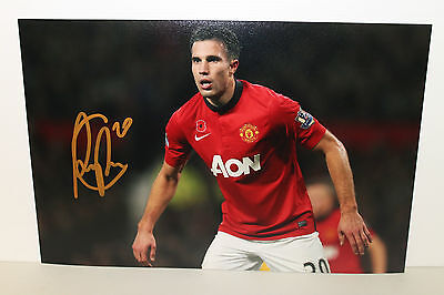 ROBIN VAN PERSIE HAND SIGNED 8x12 PHOTOGRAPH UNFRAMED + PHOTO PROOF & C.O.A