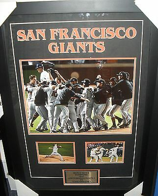 San Francisco Giants Unsigned 12X18 Photo Set Framed