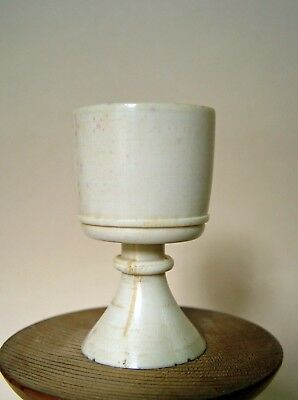 Small Antique Bovine Bone Stem Cup . Chinese ? 6 Cm. High.