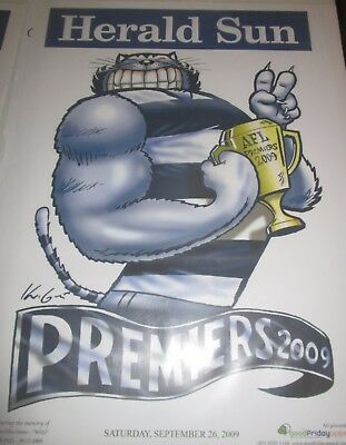 2009 Geelong FC : AFL Premiers : Official Herald Sun/Mark Knight Poster