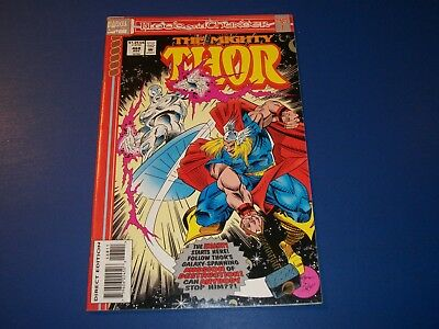 The Mighty Thor #468 Silver Surfer VF+ Beauty Blood and Thunder Part 1 Key WOW!