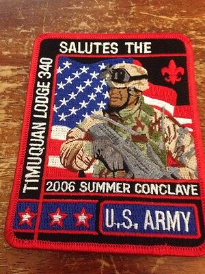Timuquan Lodge #340 2006 Summer Conclave Salutes the U.S. Army OA AB-323