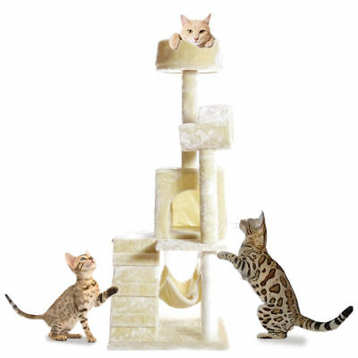 "PET PALACE 51"" Cat Kitty Tree Scratcher Play House Condo Furniture Bed Post Hous"