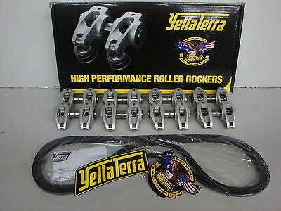 YELLA TERRA Ultralite Roller Rocker Set 1.7 Ratio GM LS3 / L92 / L98 6.2L YT6667