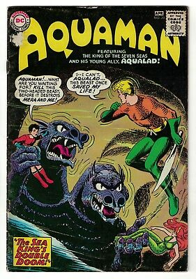 DC Comics AQUAMAN 1  20 SILVER AGE justice league VG+ 4.5 1965
