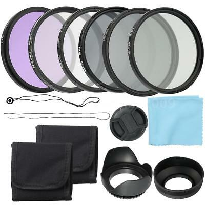 58mm Professional UV CPL FLD Lens Filters Kit +Altura Photo ND(2/4/8) For Camera