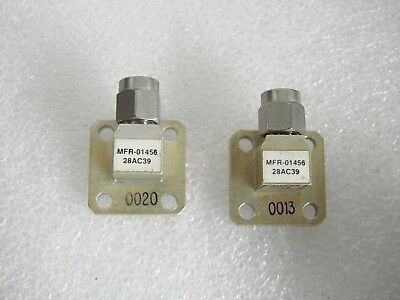 MDL 28AC39 SMA 2.92mm to WR28 RF WAVEGUIDE ADAPTER 26.5 to 40 Ghz