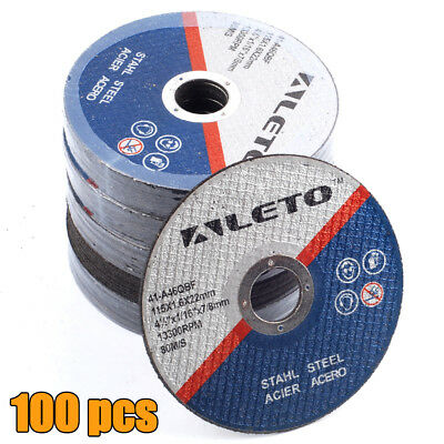 """100 x METAL CUTTING BLADE DISC STAINLESS STEEL ANGLE GRINDER THIN 115mm 4.5"""""""