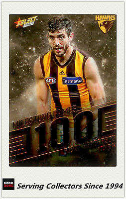 2018 AFL Footy Stars Trading Card Milestones Subset MG60 R. Henderson (Hawthorn)