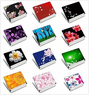 "Laptop Flower Sticker Skin Decal Cover For 11.6""-15.6"" Sony HP Dell Acer Toshiba"
