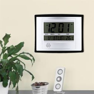 TS-H129Y Digital LCD Temperature Date Calender Home Office Room Decor Wall Clock