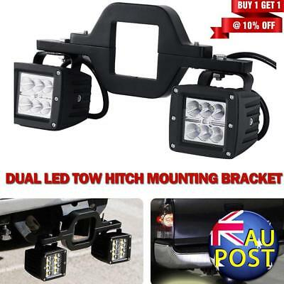 Universal Tow Hitch Mounting Bracket For Dual LED Light bar Backup Reverse SUV