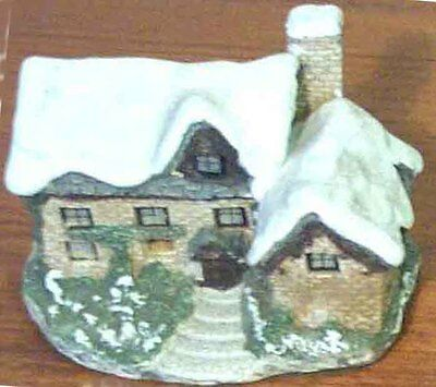 Ornamental Winter Christmas Cottage House Figurine 1987 Ron Gordon Designs Inc