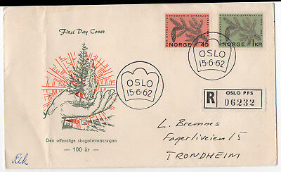 NORWAY REGISTERED COVER [ 06232] 1962 - Pmk '' OSLO '' OPEN / NEVER BEEN SEALED