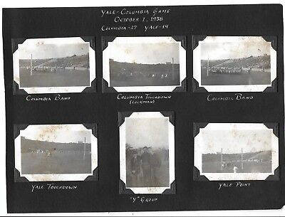VINTAGE  PHOTOS LOT Of 6 *  YALE COLUMBIA FOOTBALL GAME * 1938 * SIX PHOTOGRAPHS