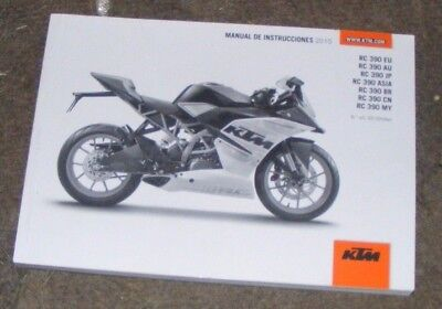 Ktm Rc390 Eu - Au - Jp - Asia - Br - Cn - My Owners Manual 2015  ( In Spanish)
