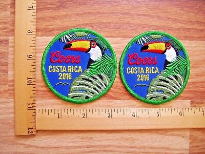 Lot Of 2  Beautiful Coors Beer Costa Rica 2016 Iron On Patches