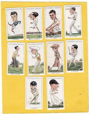 Churchman Scarce Part Set 29/50. Men Of The Moment In Sport. Cat £140. Isd 1928.