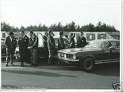 Ford Mustang Caltex Racing Original Press Photograph 1960's Excellent Condition