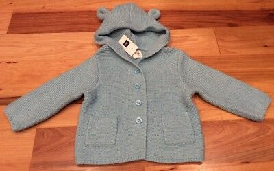 4248867b8 BABY GAP BOYS 6-12 Months Light Blue & White Striped Sweater With ...
