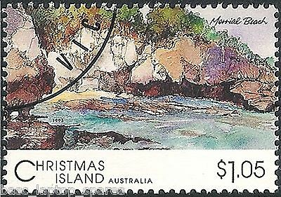 1993 Scenic Views of Christmas Island - $1.05 Marrial Beach CTO