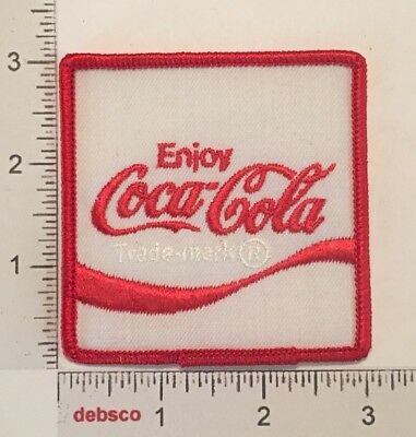 Vintage Enjoy Coca-Cola Coke Emblem Embroidered Iron On PATCH