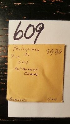 Lot 609 One Philippines 1947 50 Cent Mac Arthur Ungraded Purchased 1/64