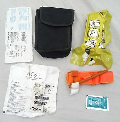 Ex Police Personal Trauma Pack With Pouch Air Soft Medic Kit Paintball CAT
